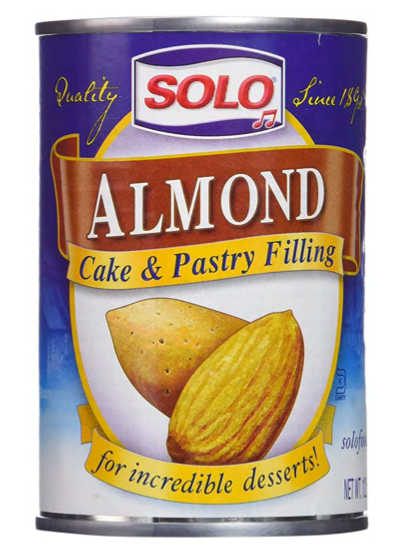 A large can of almond filling